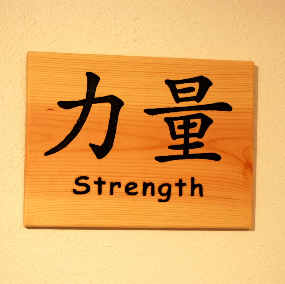 strength chinese symbol