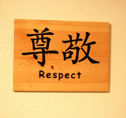 Chinese symbol for Respect