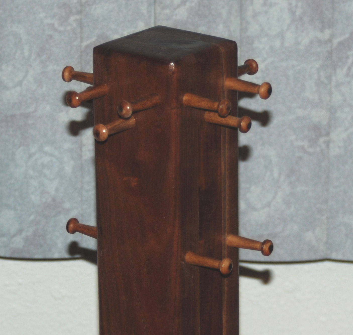 Necklace Tree Jewelry Display - Black Walnut