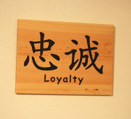Loyalty Chinese Symbol